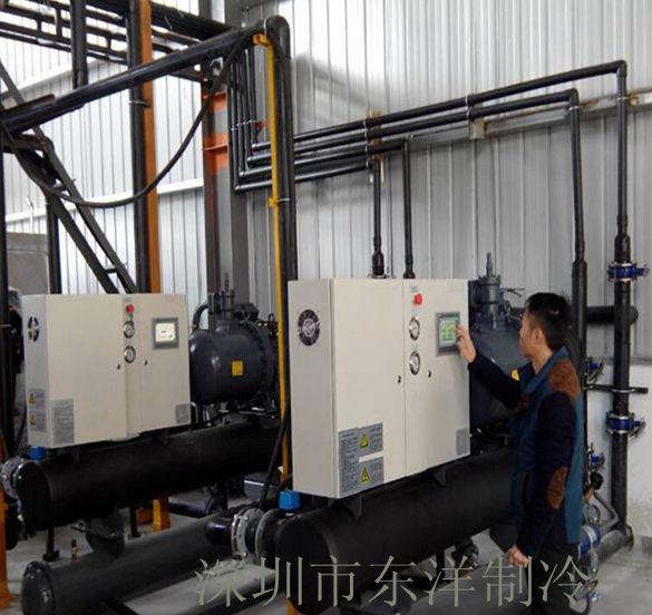 印刷行业130HP水冷螺杆式冷水机组