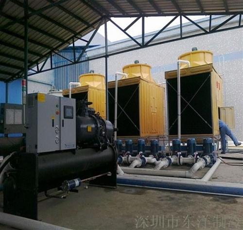 塑胶加工厂70HP水冷螺杆式冷水机组