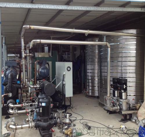 牛奶加工厂150HP水冷螺杆式冷水机